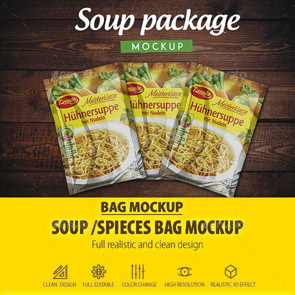 Soup Package Mock-up