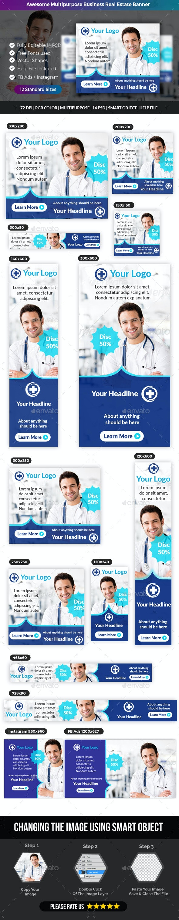 Doctor Medical Banner - Banners & Ads Web Elements