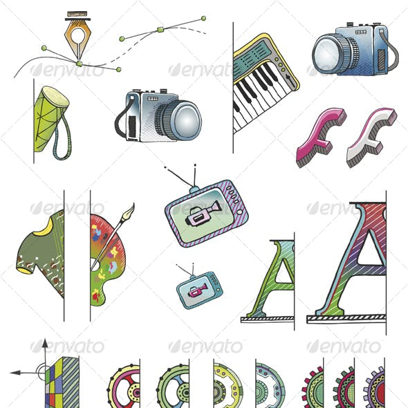 Hand Drawn Vector (+ PSD) FS Icons
