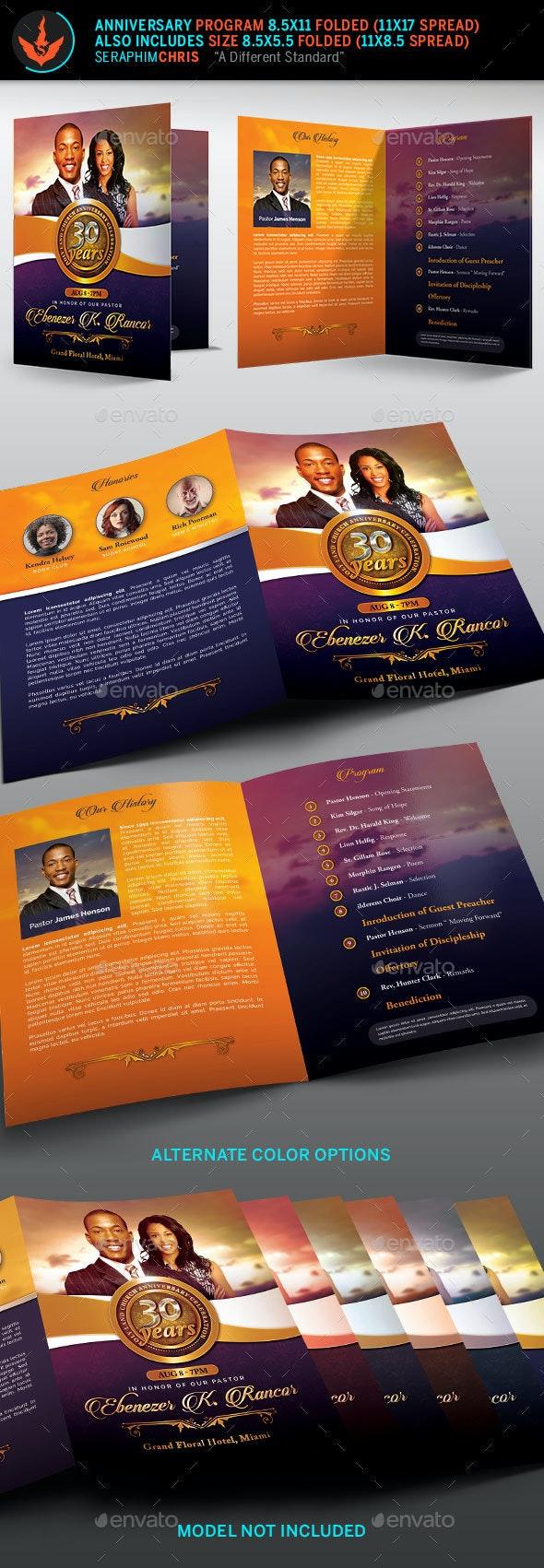 Church Anniversary Program Template - Informational Brochures