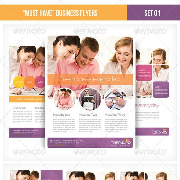 """""""Must Have"""" Business Flyers - Set 01"""