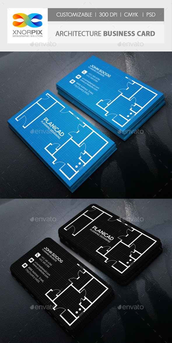 Architecture Business Card - Industry Specific Business Cards