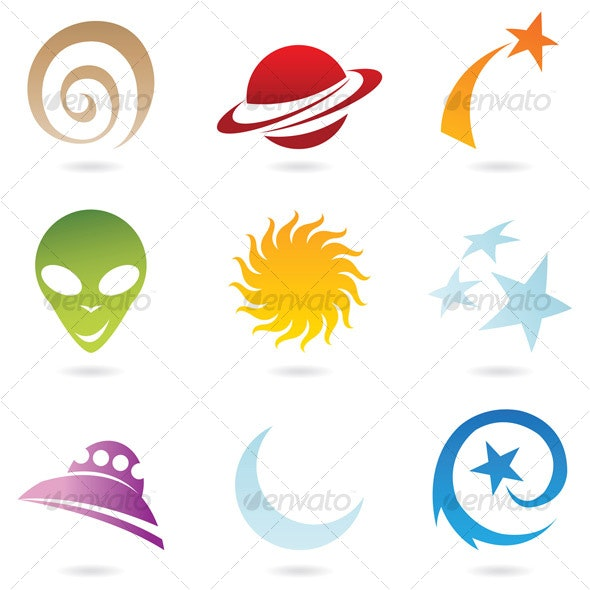 fun space icons