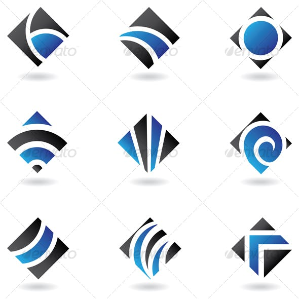 blue diamond icons