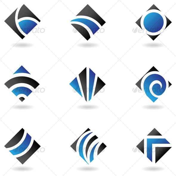 blue diamond icons - Abstract Icons