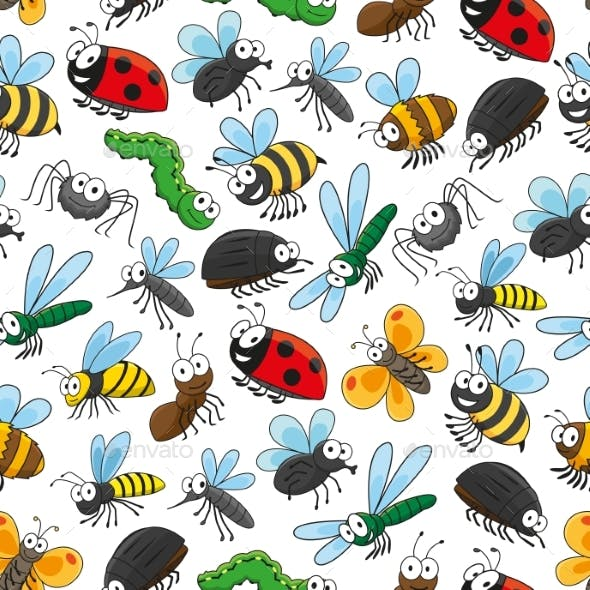Bugs and Insects Cartoon Wallpaper