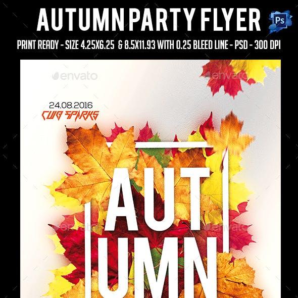 Autumn Party Flyer