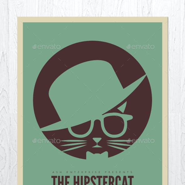 The Hipster Cat Flyer