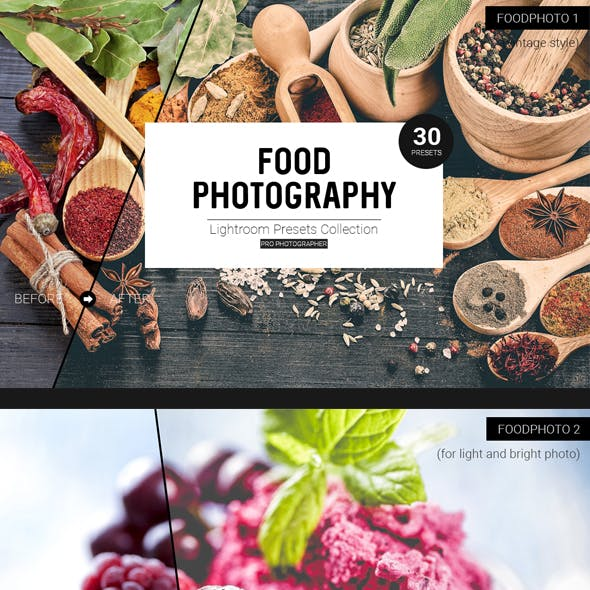 30 Lightroom Foodphoto Presets