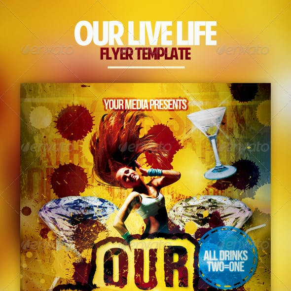Our Live Life Flyer Template
