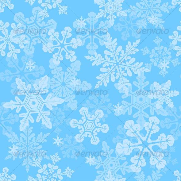 Seamless snowflakes texture