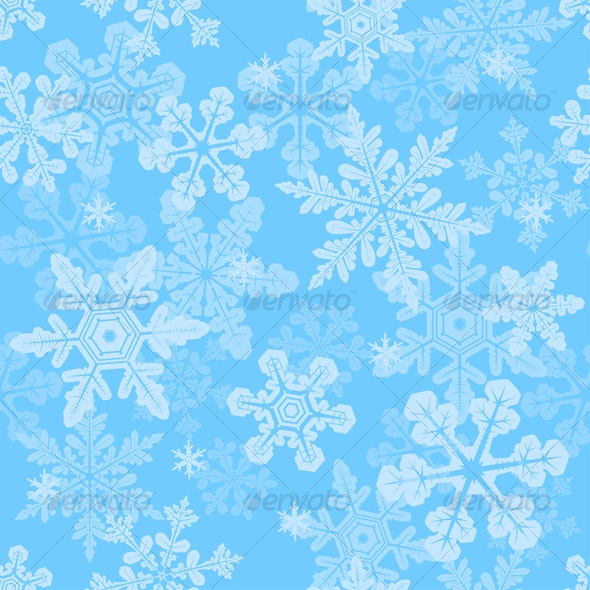 Seamless snowflakes texture - Backgrounds Decorative