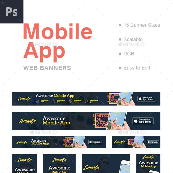 IOS Banners & Ad Templates from GraphicRiver