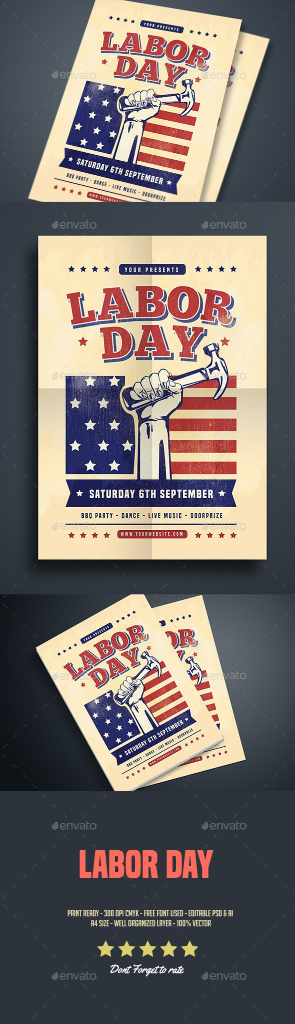 Labor Day Celebration Flyer - Events Flyers