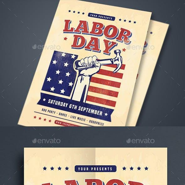 Labor Day Celebration Flyer
