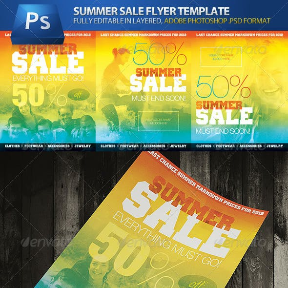 Summer Sale Store & Shop Commerce Advert Flyers