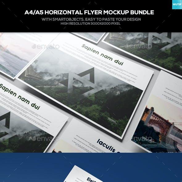 A4/A5 Horizontal Flyer Mockup Bundle