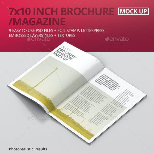 7x10 Brochure / Magazine Mock-Up