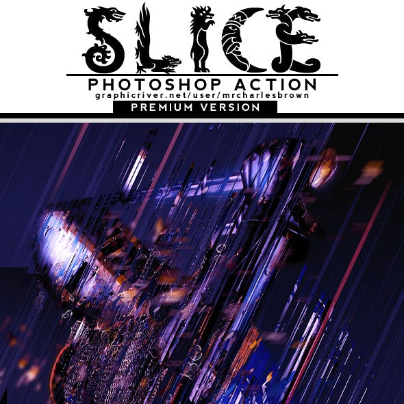 Slice Photoshop Action