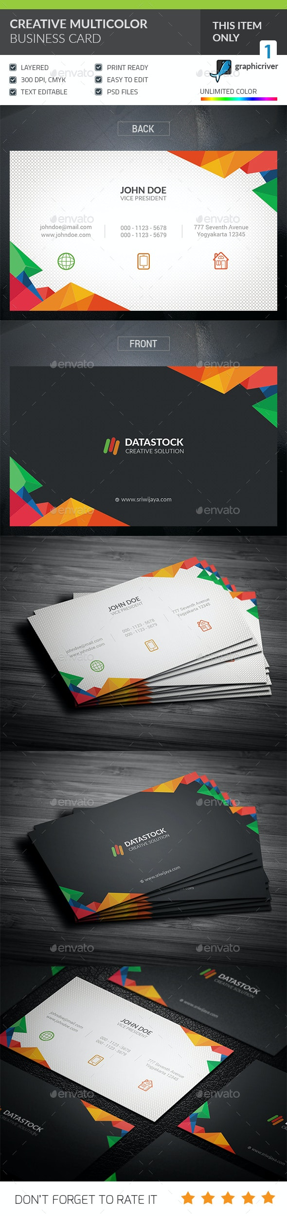 Creative Corporate Business Card - Corporate Business Cards