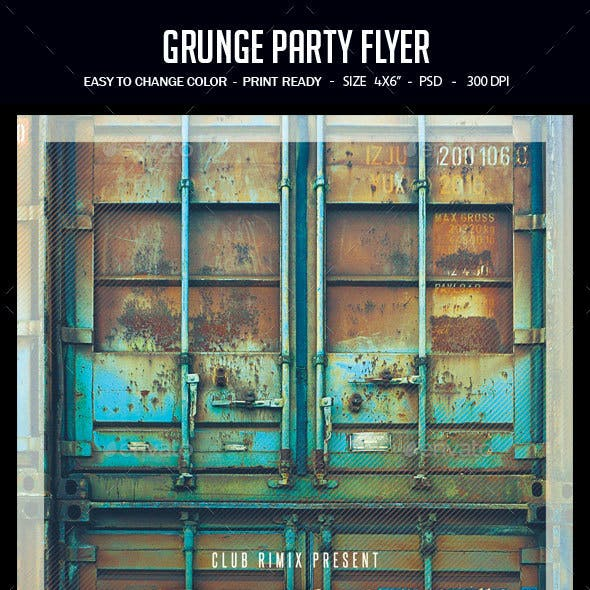 Grunge Party Flyer