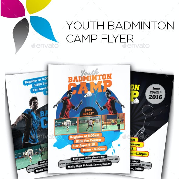 Youth Badminton Camp Flyer