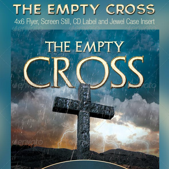 Empty Cross Church Flyer Slide CD Template