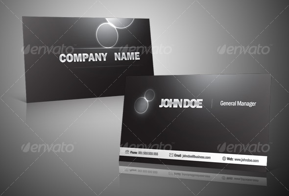 Black and Silver Business Card - Corporate Business Cards