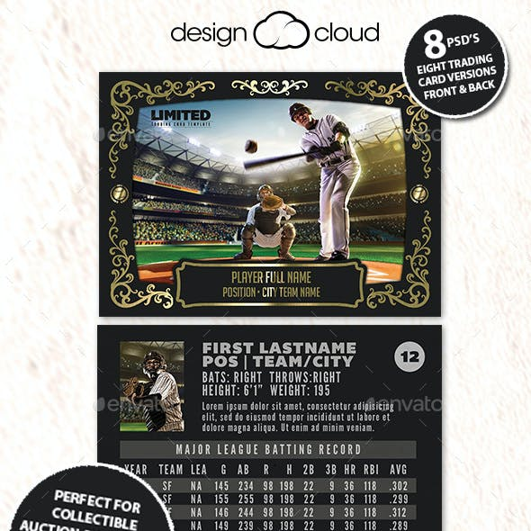 Baseball Cards Graphics Designs Templates From Graphicriver