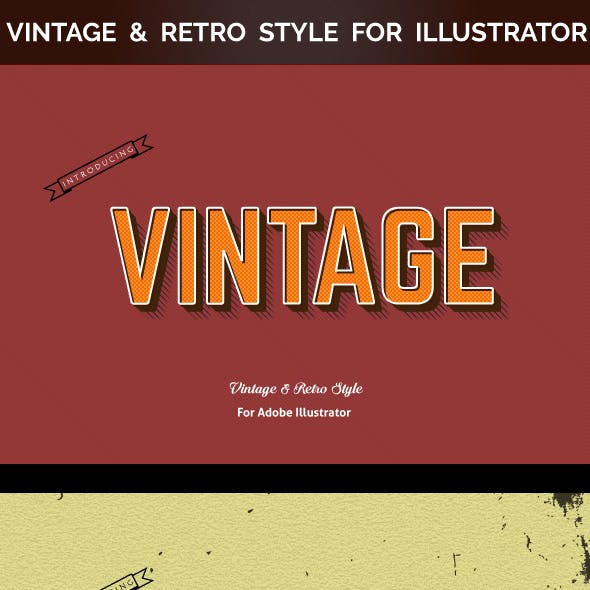 Vintage & Retro Style for Illustrator