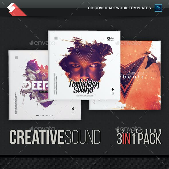 Creative Sound Collection - CD Cover Artwork Templates Bundle