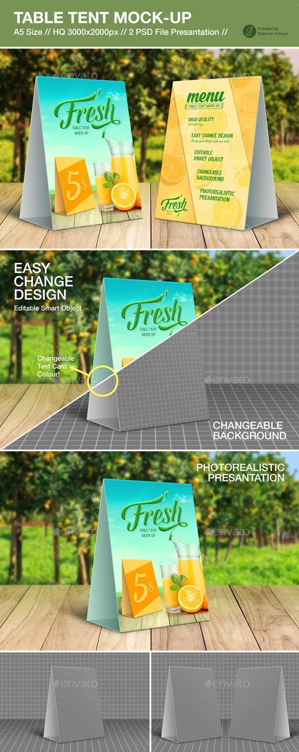 Table Tent Mock-Up  - Print Product Mock-Ups