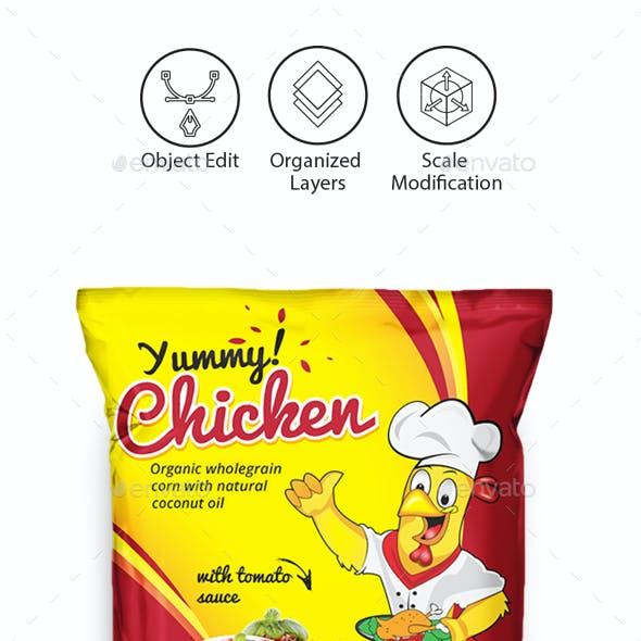 Chicken Wings Packaging Template