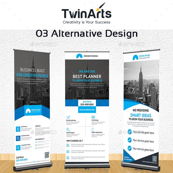 Corporate Roll up Banner.
