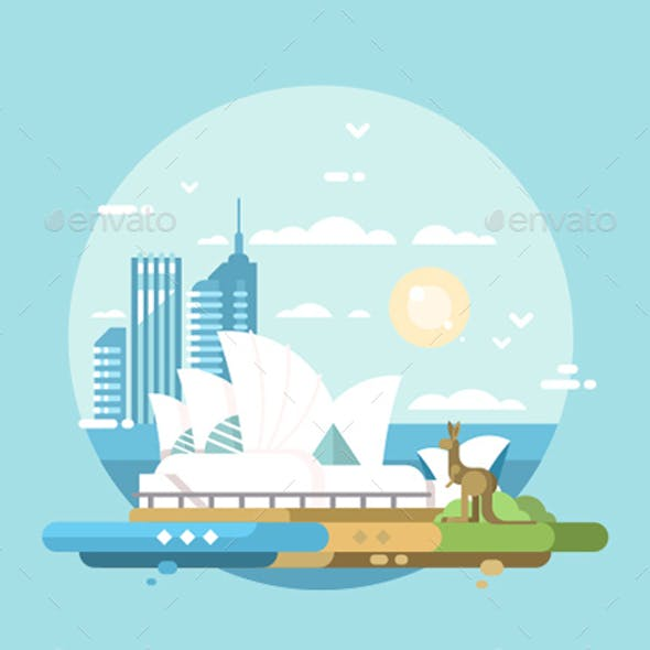 Sydney City Flat Design