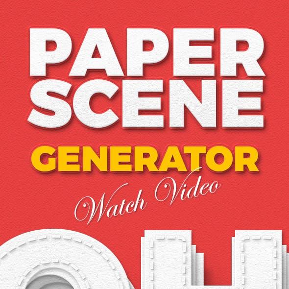 Paper Scene Generator