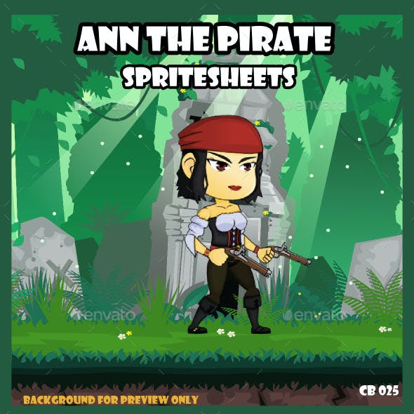 Game Asset : Ann the Pirate