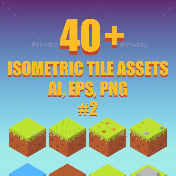 Game Asset : 41 Isometric Tiles #2