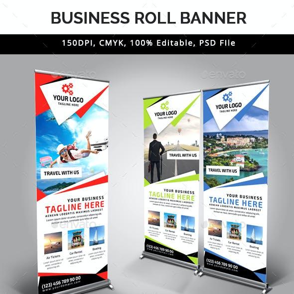 Travel Roll Up Banner V38