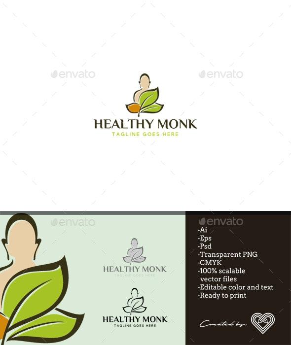 Healthy Monk - Symbols Logo Templates