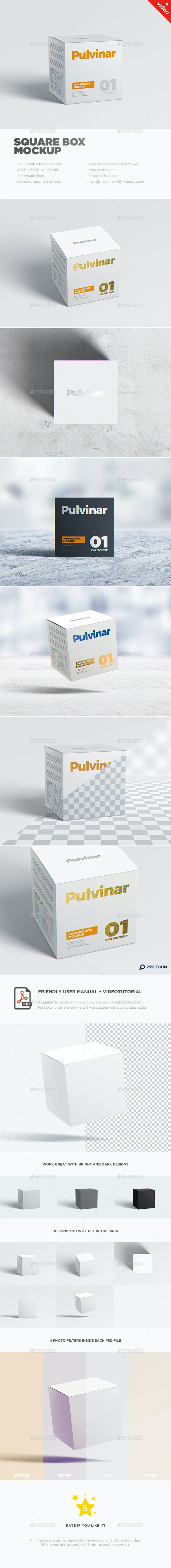Box / Packaging MockUp - Square - Miscellaneous Packaging