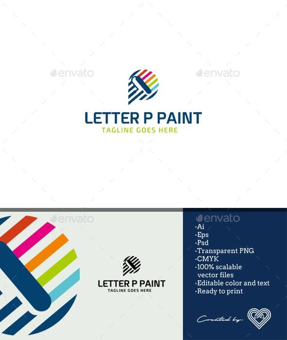 Letter P Paint - Letters Logo Templates