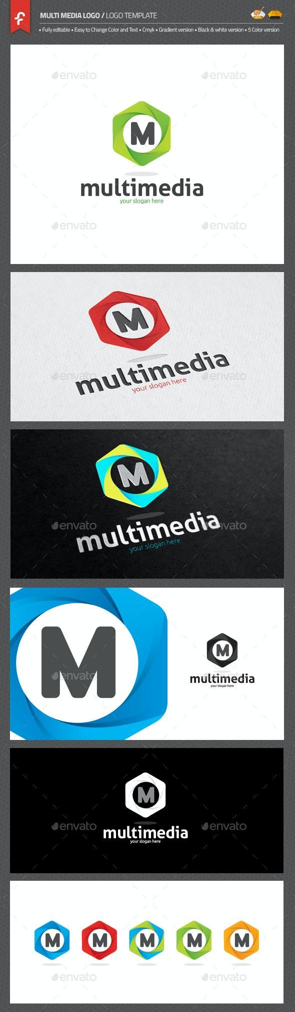 Multimedia Logo - Objects Logo Templates