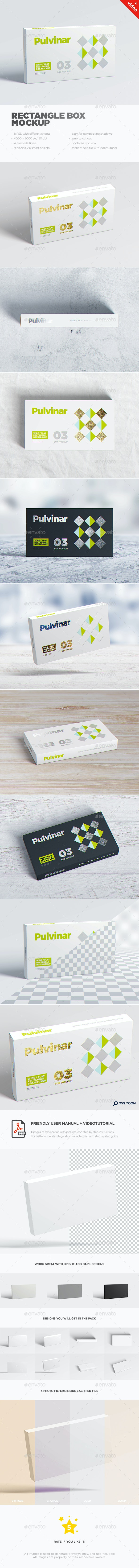 Box / Packaging MockUp - Wide/ Flat Rectangle - Miscellaneous Packaging