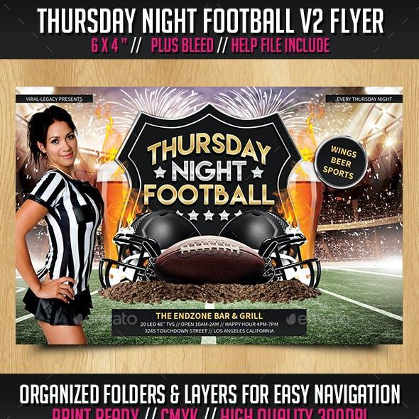 Thursday Night Football V2 Flyer