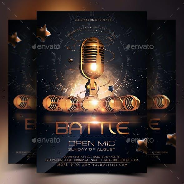 Open Microphone Battle Flyer