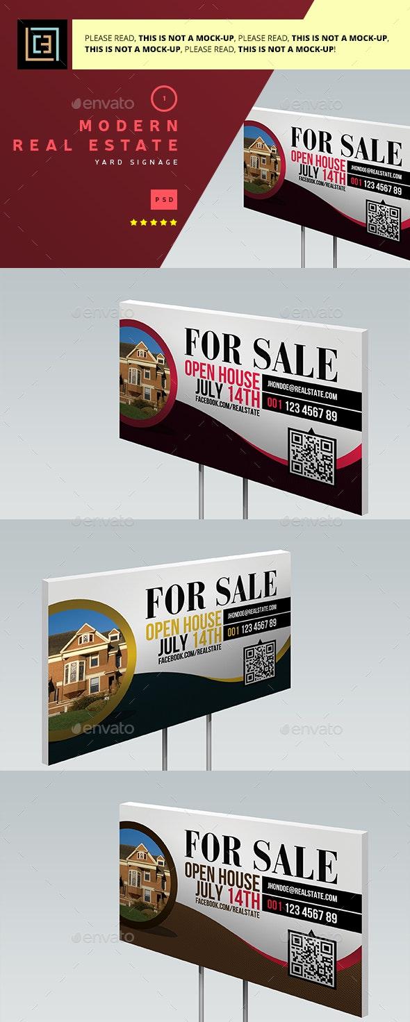 Modern Real Estate Yard Signage 1