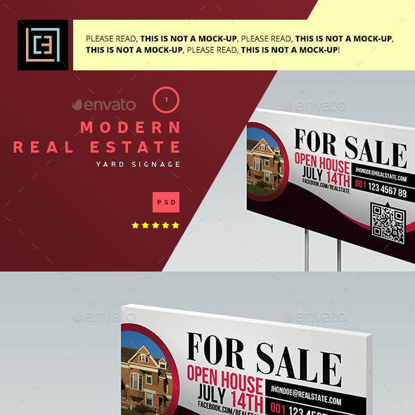 Modern Real Estate Yard Signage 1