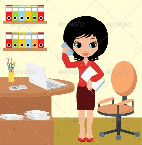 Pretty girl - business woman - Business Conceptual