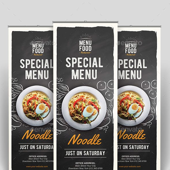 Food Roll-up Banner